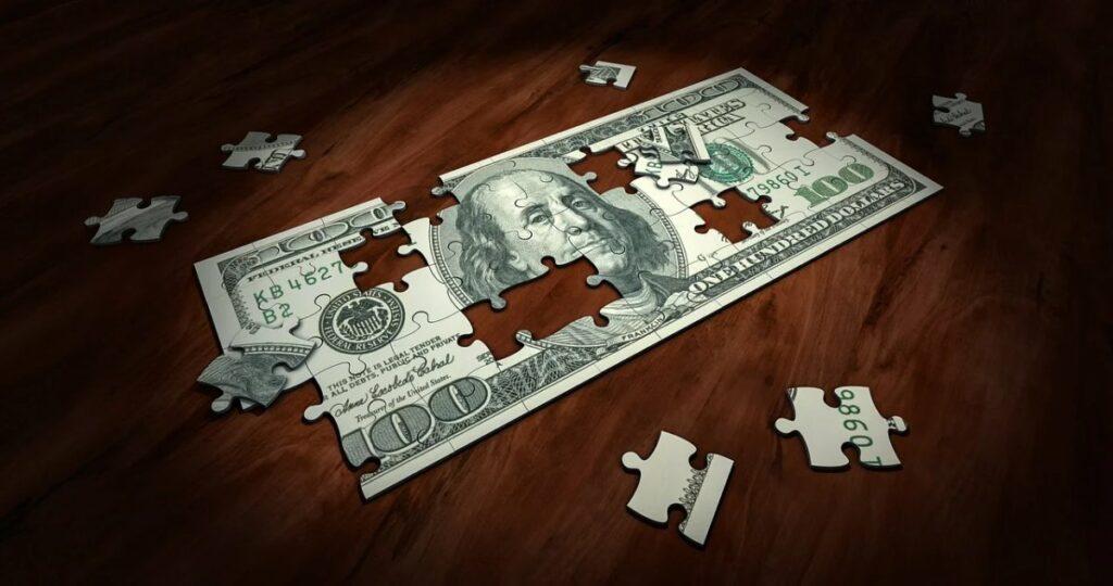 Мозайка из доллара